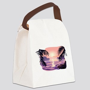 TROPICAL SUNSET [2] Canvas Lunch Bag